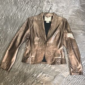 Cripple creek leather Jacket Bronze